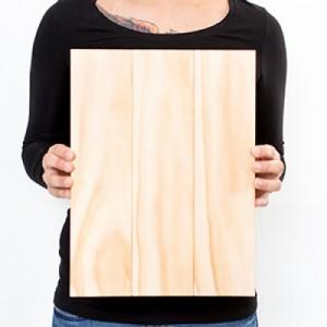 10.5 x 14 Custom Planked Wood Print
