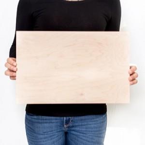 16.5 x 10.5 Custom Planked Wood Print