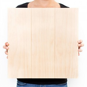 16.5 x 16.5 Custom Planked Wood Print
