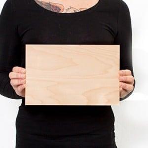 10.5 x 6.75 Custom Solid Wood Print