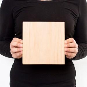 7 x 7 Custom Solid Wood Print