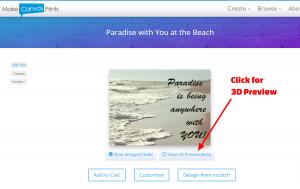 Make Canvas Prints - 3D Preview